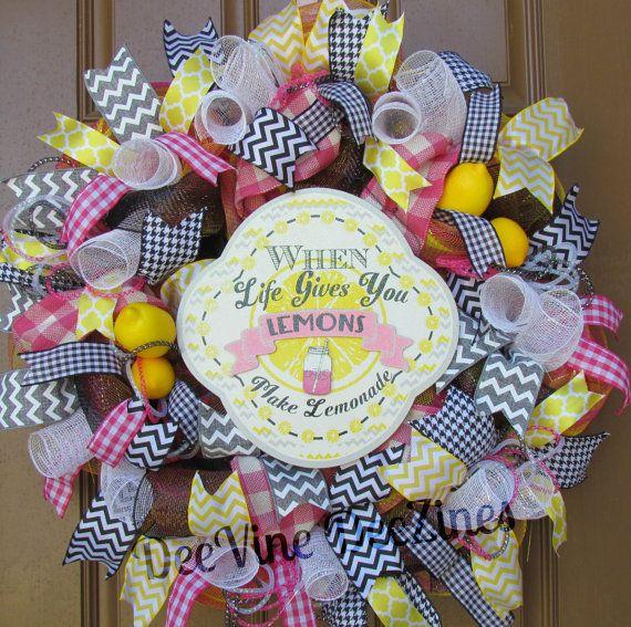 Lemonade Deco Mesh Wreath Lemonade Mesh Wreath by DeeVineDeeZines ($83)