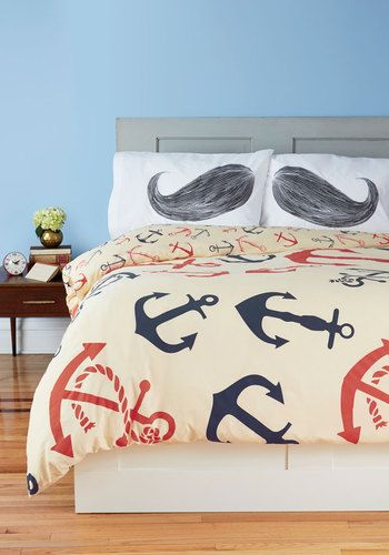 ha! the pillows!! Snooze Anchor Duvet Cover in Full/Queen, #ModCloth