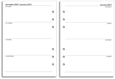 Free Filofax A4 and A5 diary inserts for 2014 - download and print