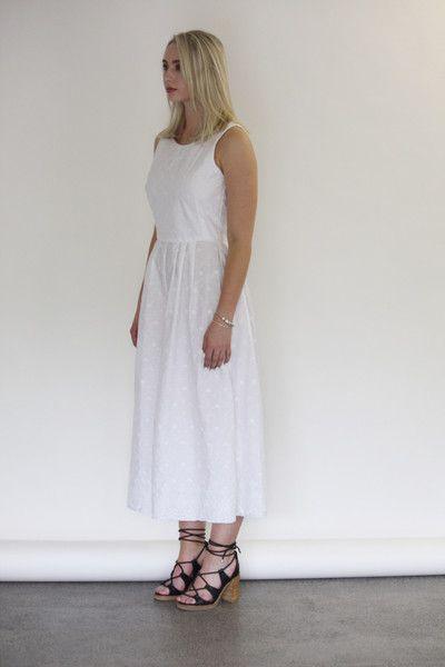Céline Rita NZ Designer Broderie Anglaise Jumpsuit Culottes White