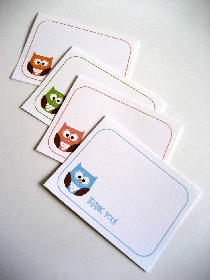 Owl Thank You Cards Owl Greeting Cards