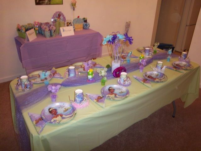 princess birthday party ideas tulle table runnertable