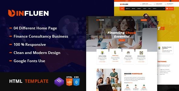 Influen — Corporate & Financial Business HTML5 Template | Stylelib