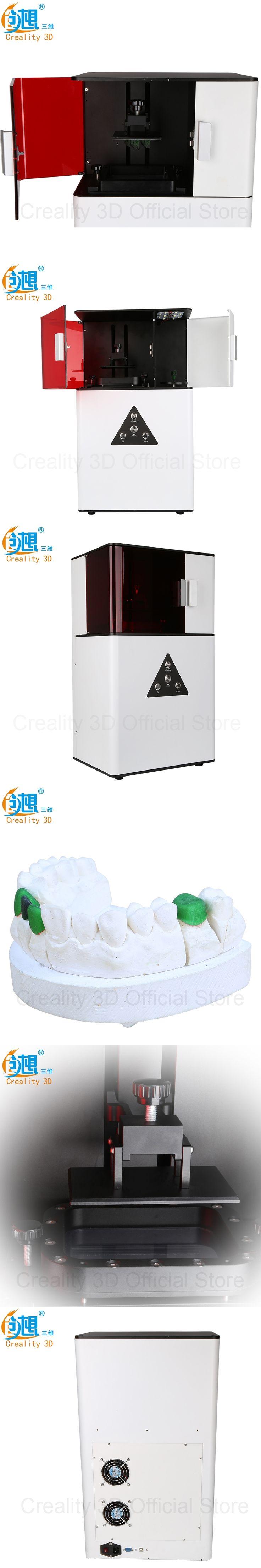 3 D Printer CREALITY 3D DLP 3D Printer Printing wax / casting /UV resin LCD light curing DP-001 tooth jewelry Cheap 3d printers