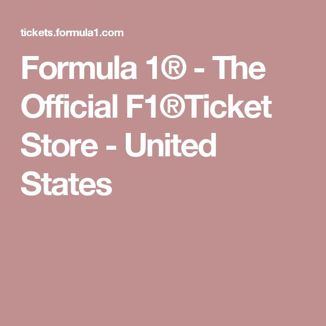 Formula 1® - The Official F1®Ticket Store - United States