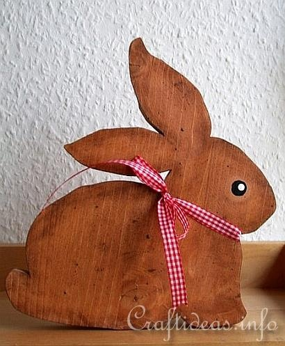 Wood Crafts for Spring and Easter - Cute Simple Bunny