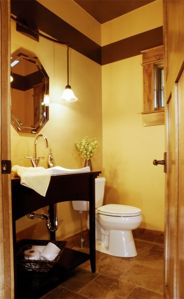half baths bathroom brown yellow half bathroom powder room decor