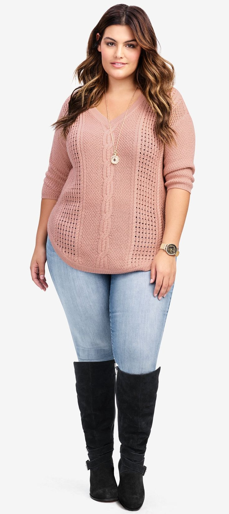 Plus Size Fall Sweater #plussize