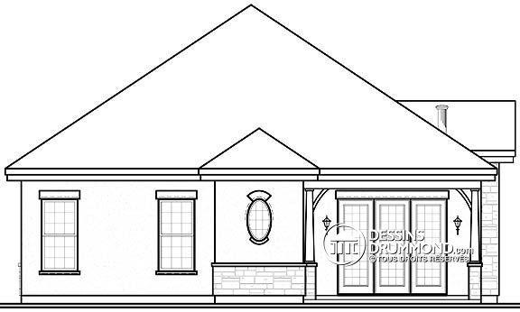 Détail du plan de Maison unifamiliale W3248 Idée maison Pinterest - idee de plan de maison