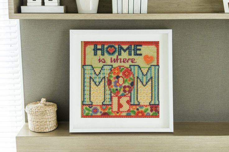 Cross Stitch Kit Mom by Mill Hill, Mother Cross Stitch, Mother's Day, Home Cross Stitch by NeedleAndCrafts on Etsy