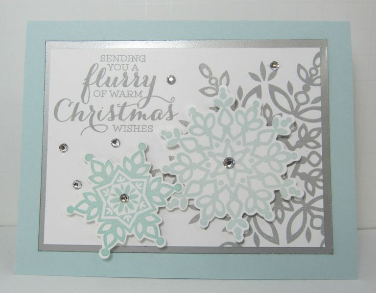 Stampin' Up Christmas Card Kit Flurry of Warm Christmas Wishes Set of 5 Cards | eBay