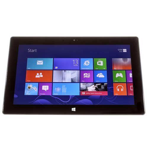 "Microsoft 1516 Surface RT 10.6in Tegra 3 2GB 64GB WiFi Dark Titanium Grade A Refurbished. Device Platform: Microsoft Windows RT 8.0. CPU: Tegra 3, CPU Speed: 1.3GHz. RAM: 2GB, Storage Capacity: 64GB. Display Size: 10.6"", Display: TFT. Wi-Fi: 802.11a/b/g/n."