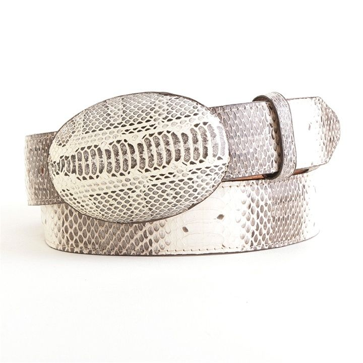 This Natural Water Snake Belt from Los Altos will look great with almost any outfit. Its got some real attitude! Purchase at Arrowsmith Shoes.