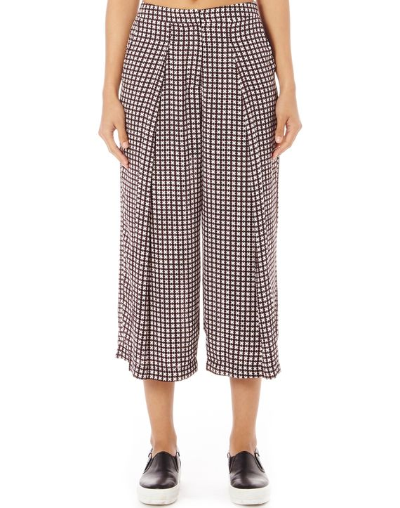 Print Pleated Culottes