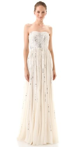 Ethereal strapless dress from Rebecca Taylor. With Sequens 25% off at Shopbop.com... Seriously ♥ this dress.