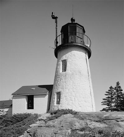 Burnt Island Lighthouse circa 1950  Photograph courtesy Library of Congress