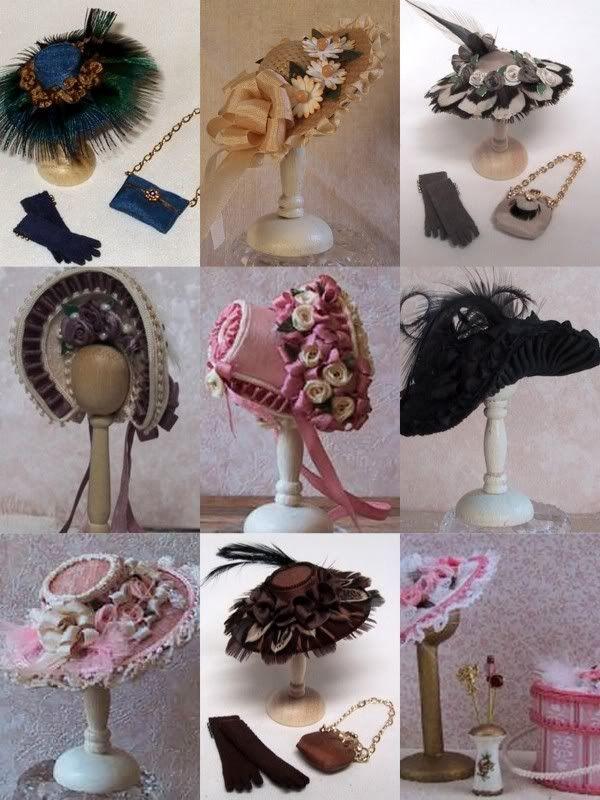 Great tutorials for miniature hats.