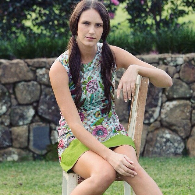 A perfect summer style and print... Our Sixties Tunic in the Sara Print. Wear it as a dress or a layer over trousers... www.mahashe.com/sixties-dress-sara-green/