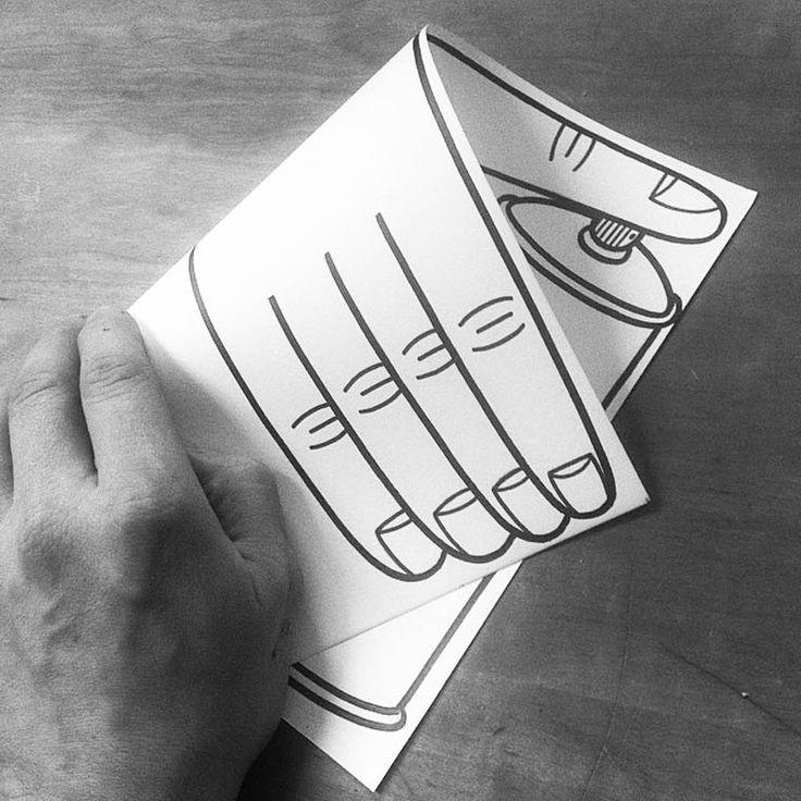 Cet artiste réalise de superbes dessins qui prennent forme une fois la feuille pliée