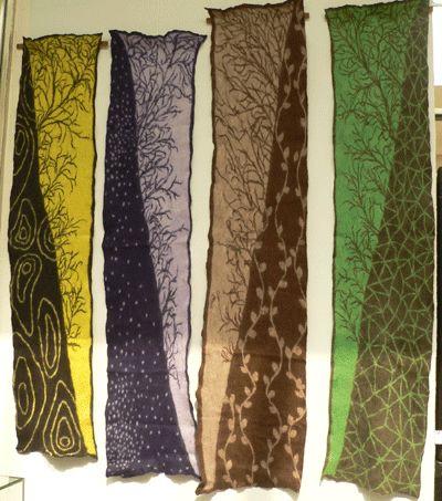 fashionably felt scarves