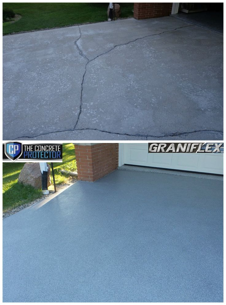Crackproof concrete from The Concrete Protector. GraniFlex Decorative Concrete Resurfacing.