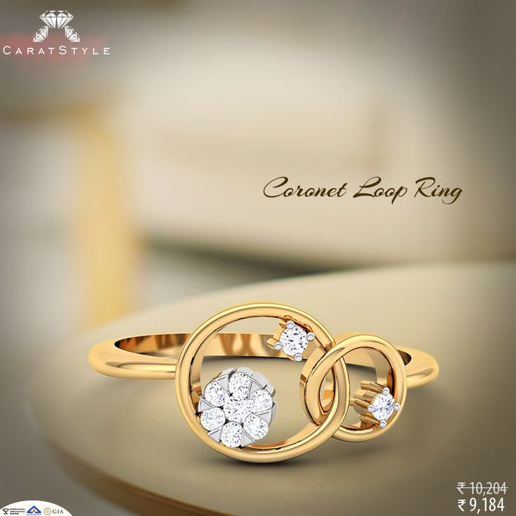 The future is taking shape in round with coronet loop ring.#diamondring #goldring #weddinggift