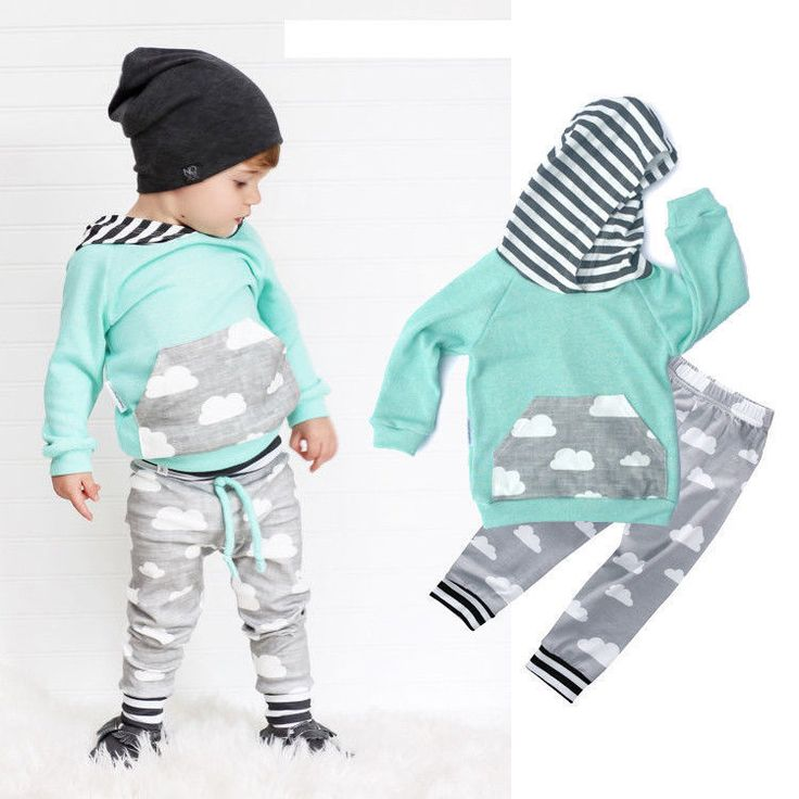 Kids Baby Boy Girl Casual Clothes Set Hoodie Sweatshirt Tops Hooded Long Pants Leggings Outfit Casual Clothing Set