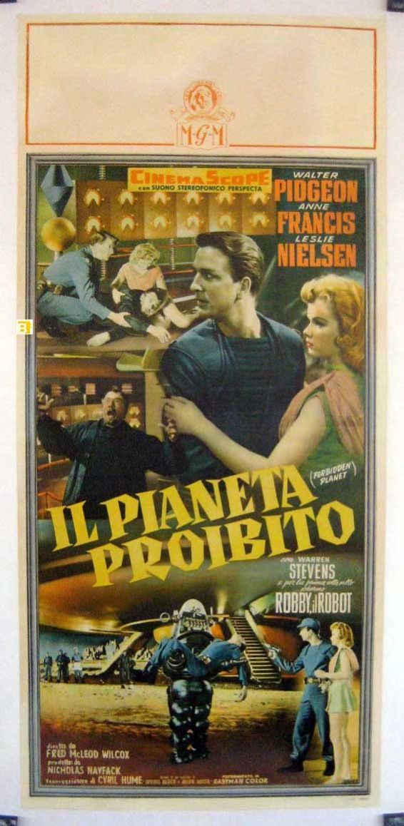 Forbidden Planet poster starring Leslie Nielsen, Anne Francis, Walter Pidgeon, and Robby the Robot!