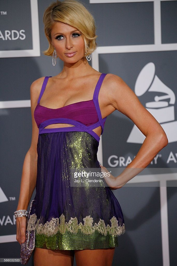 News Photo : Paris Hilton at the 51st Annual Grammy Awards at...