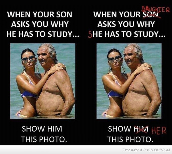 When Your Son Asks You Why He Has To Study...