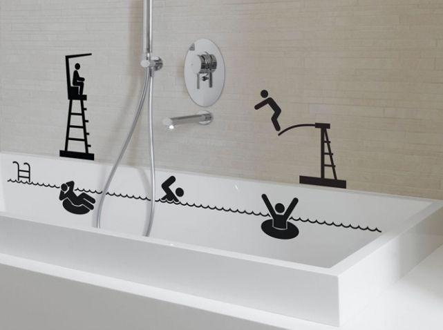 Best 25 stickers salle de bain ideas on pinterest - Stickers meuble salle de bain ...