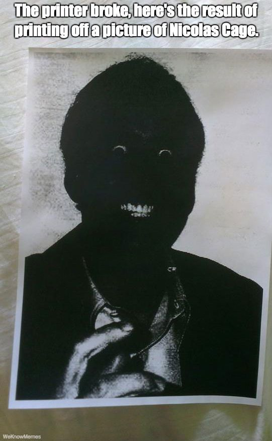 This Nicolas Cage Picture Will Give You Nightmares @Eloise Cornbuckle Cornbuckle Cornbuckle Ruby :D