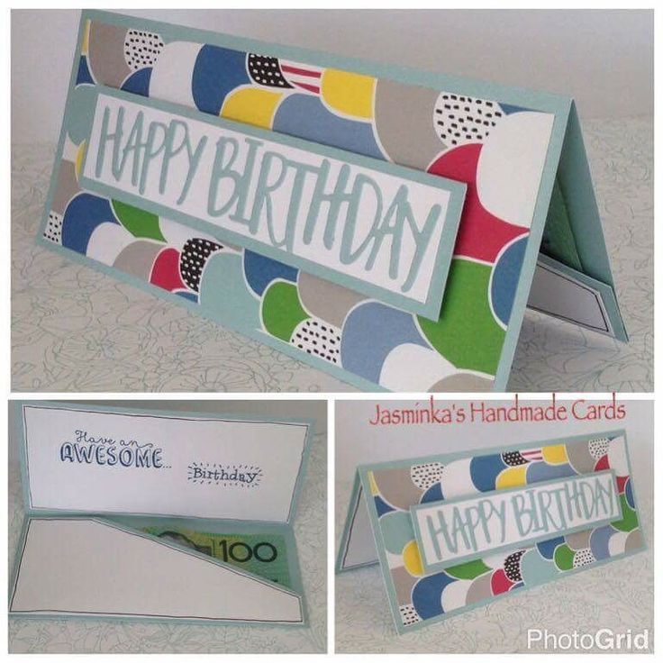 Money Wallet cards using CTMH Some kind of wonderful' papers and the Happy Birthday thin cut.