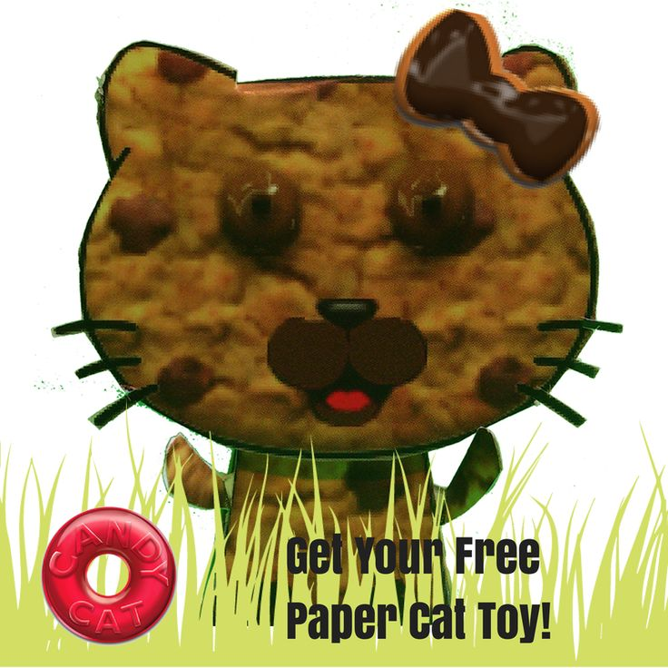 Get your FREE paper Candy Cat! LIKE us here and send us a message! bit.ly/candycat