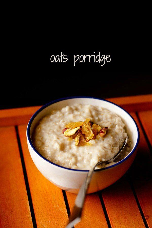 oats porridge recipe with step by step pics. quick oats porridge with quick cooking oats. this oats porridge can be served to kids as well as adults