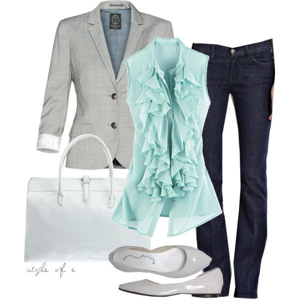 professional casual: Casual Friday, Style, Color Combos, Than, Jeans, Blazers, Casualfriday, Work Outfit, Business Casual