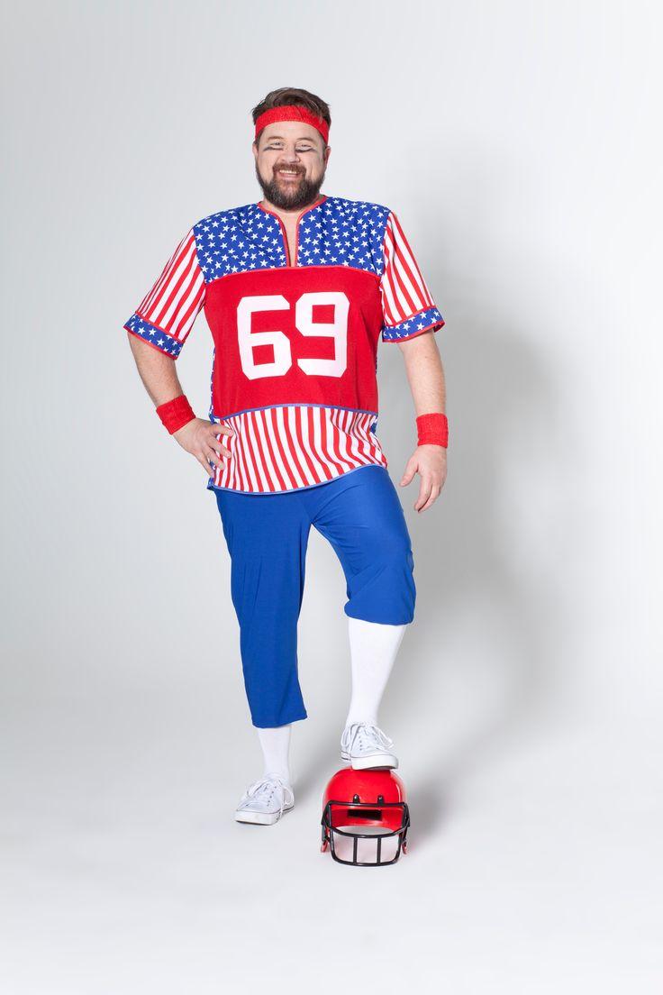 Football Spieler, Deiters, Kostüm, Fasching, Karneval, Plus Size