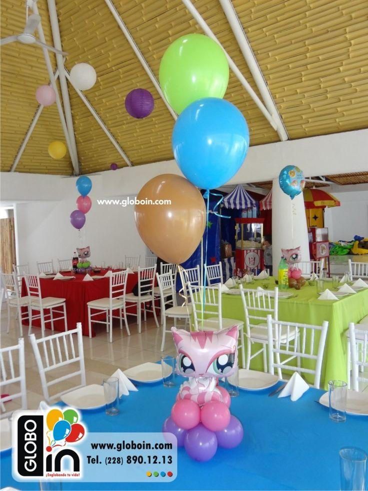 14 best centros de mesa con globos images on pinterest - Centros de mesa con globos ...