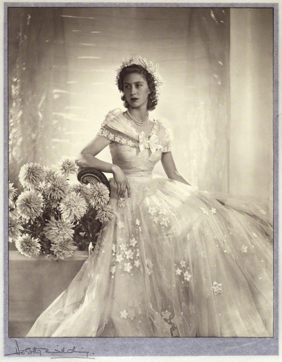 Princess Margaret, Countess of Snowdon in November 1947 as a bridesmaid at her sister 's wedding
