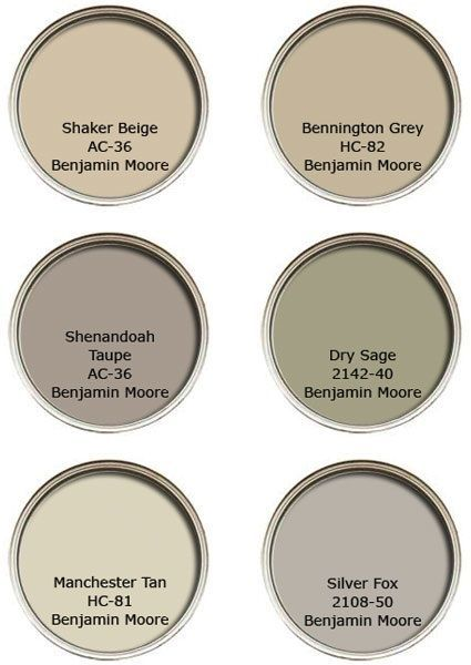 benjamin moore shenandoah taupe | Her suggestions for neutral paints by Benjamin Moore.