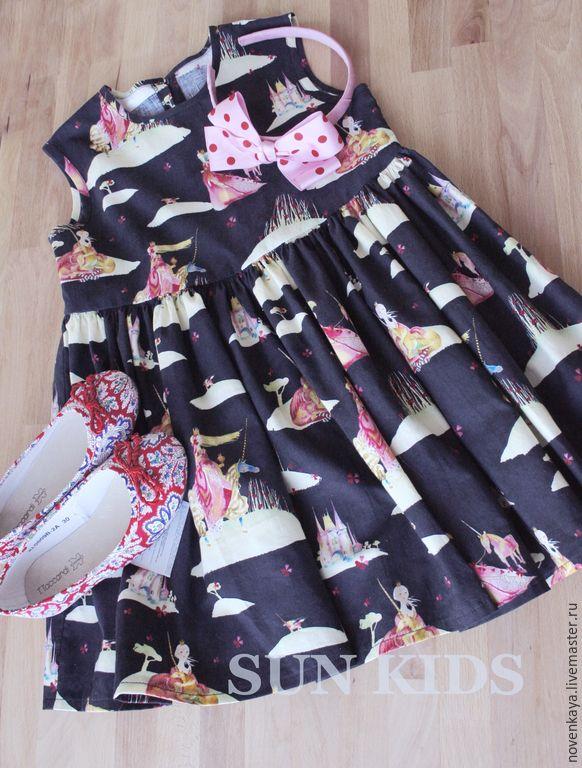 Купить Платье ПРИНЦЕССА И ЕДИНОРОГ - разноцветный, рисунок, платье, леди, пони, единорог, лошадка