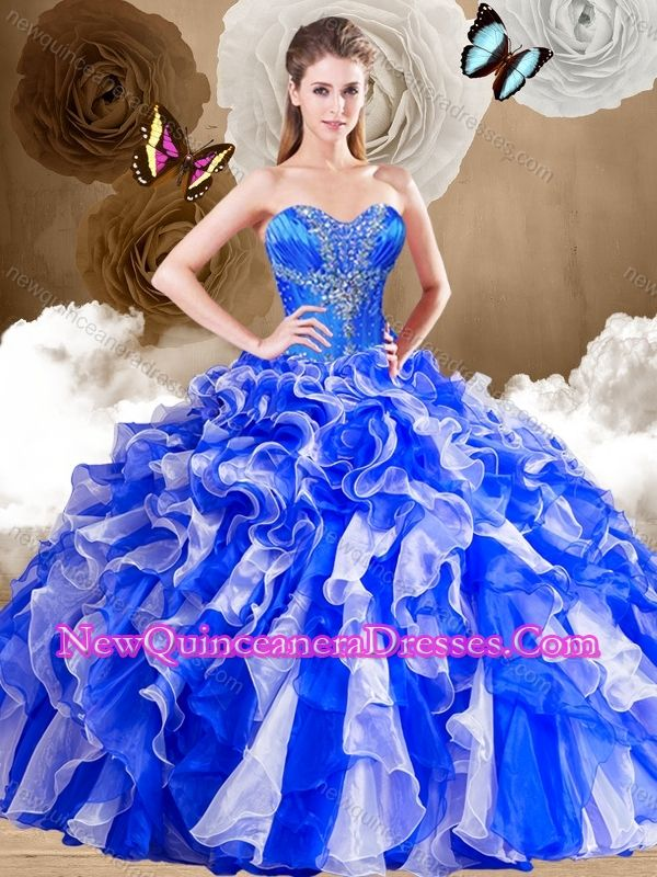 2016 Unique Sweetheart Multi Color Sweet 16 Dresses with Ruffles - $225.48