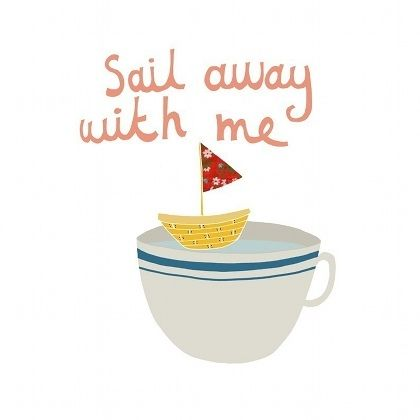 :): Arti Things, Mixed Bowls, Quotes, Teas Illustrations, Decoration Design, Sail Away, Coff Cups, Sailing Away, Coffee Illustrations