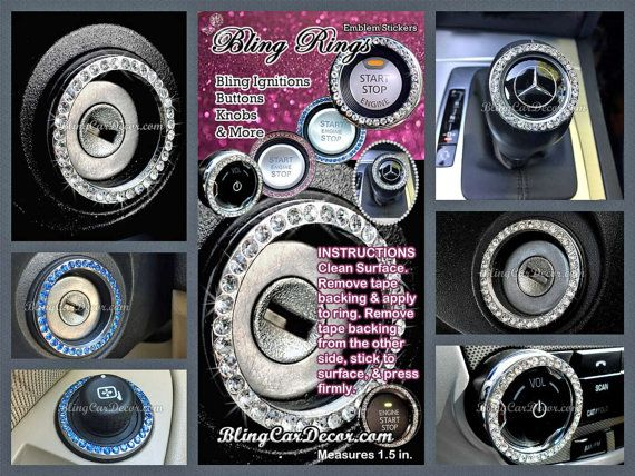 BLING RINGS- Bling Car Emblem Stickers, Bling Ignitions, Buttons, Knobs & More. Shop car interior Bling. - by BlingCarDecor on Etsy.  https://www.etsy.com/shop/BlingCarDecor SAVE 10% Coupon Code: PINME.
