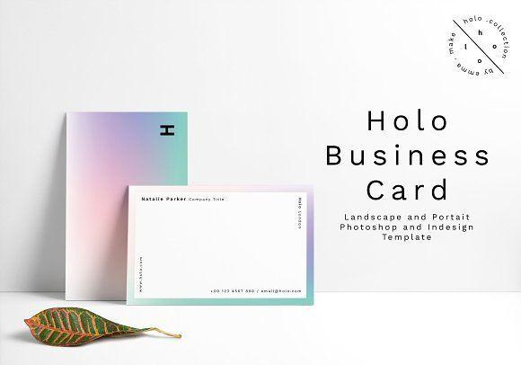 Holo Business Card Design by Emma Make on @creativemarket