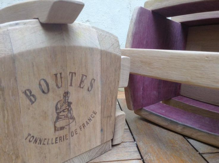 Recycled wine barrel baskets ready for varnishing