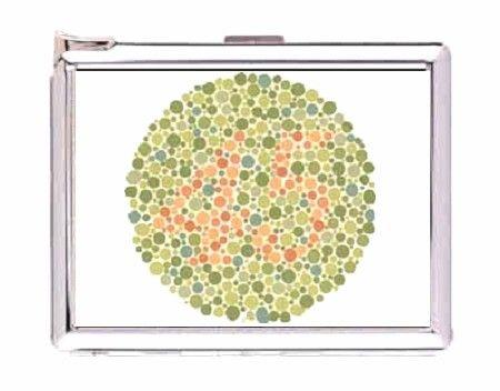 color blind test image 45 Double-sided cigarette lighter case money clip wallet