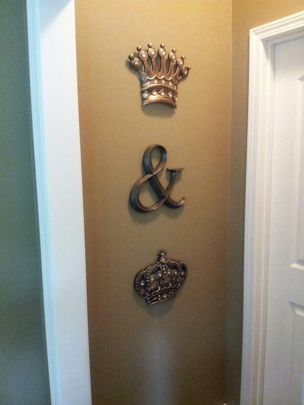 King and Queen crowns from Kirklands and ampersand from Hobby Lobby. Master Bedroom entrance