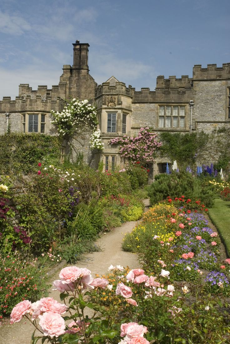 "Haddon Hall,  Bakewell, Derbyshire, is one of the seats of the Duke of Rutland. It is currently occupied by Lord Edward Manners (brother of the current Duke) and his family. In form a medieval manor house, it has been described as ""the most complete and most interesting house of [its] period"". The origins of the hall date to the 11th century. The current medieval and Tudor hall includes additions added at various stages between the 13th and the 17th centuries."