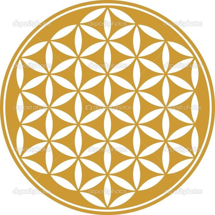 bloem van leven - heilige geometrie - symbool harmonie en balans — Stockillustratie #21339739